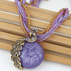 Jewelry - !!3/25!!  FULL MOON ANTIQUE NECKLACE (PURPLE)